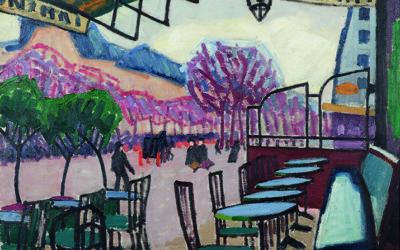 AUGUSTE HERBIN (1882-1960)LA TERRASSE DE CAFE, BASTIA (1907)