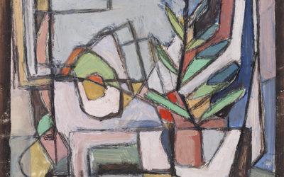 Geer van Velde (1898-1977)'Nature morte avec plante verte'