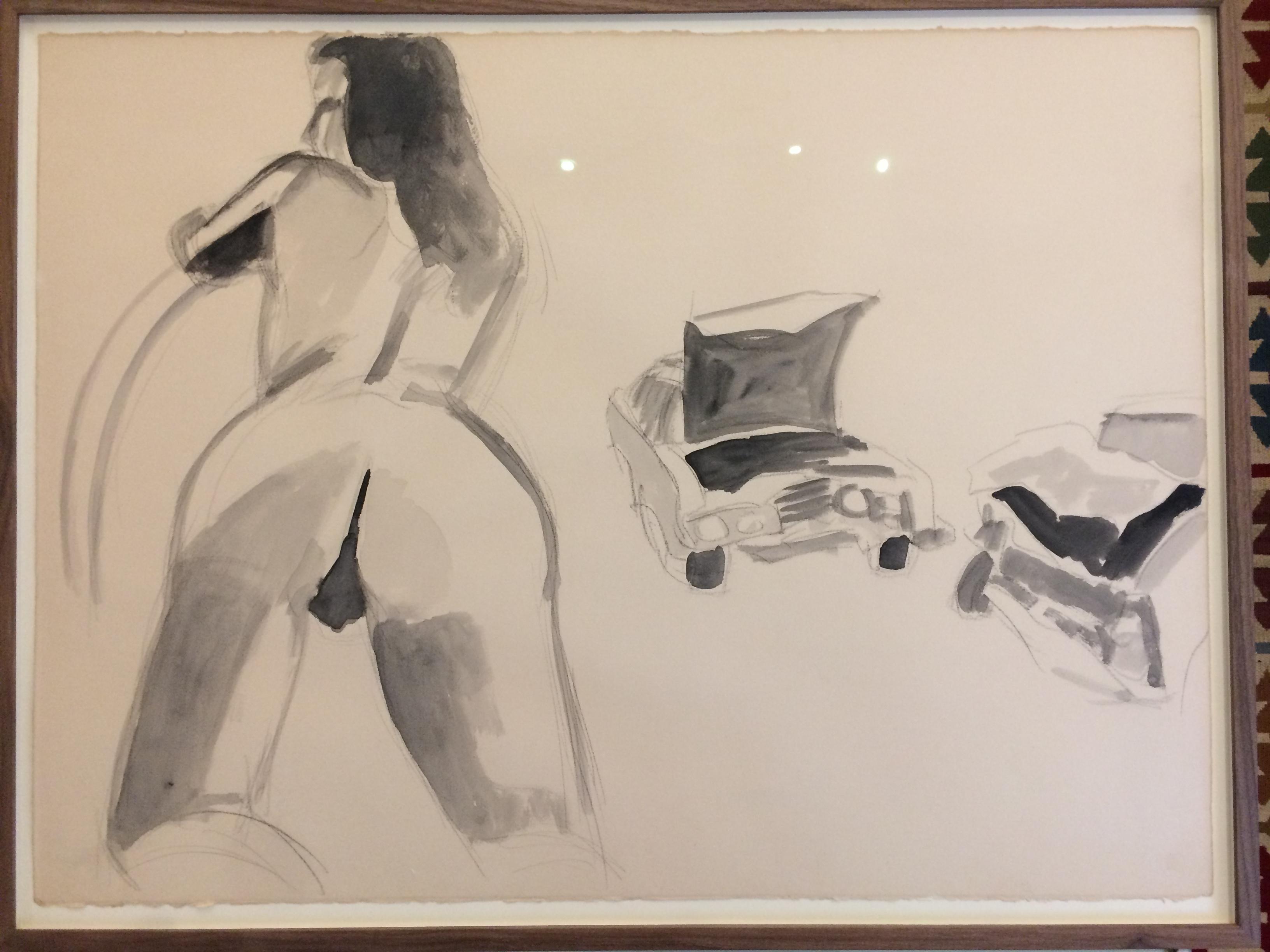 DAVID SALLE  (1952)ZONDER TITEL( carcrash-serie 1977/78)