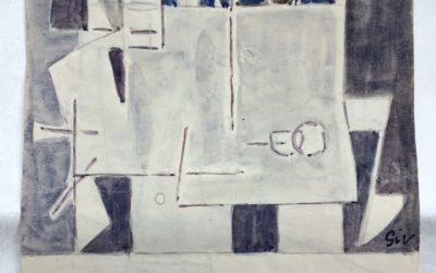 GEER VAN VELDE (1898-1977) Compositie (ca.1950)