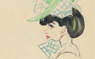 JAN SLUIJTERS (1881-1957) Het blauwe hoedje (Ca.1908)