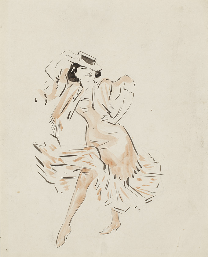 JAN SLUIJTERS (1881-1957)A Flamenco dancer