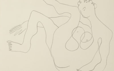 HENRI LAURENS (1885-1954)NU ASSIS JAMBES LEVÉS (1944)