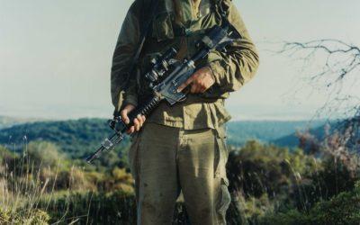 RINEKE DIJKSTRA (1959)ITAMAR,GOLANI BRIGADE.OREV UNIT,ELYAKIM,ISRAEL,MAY 29 1999