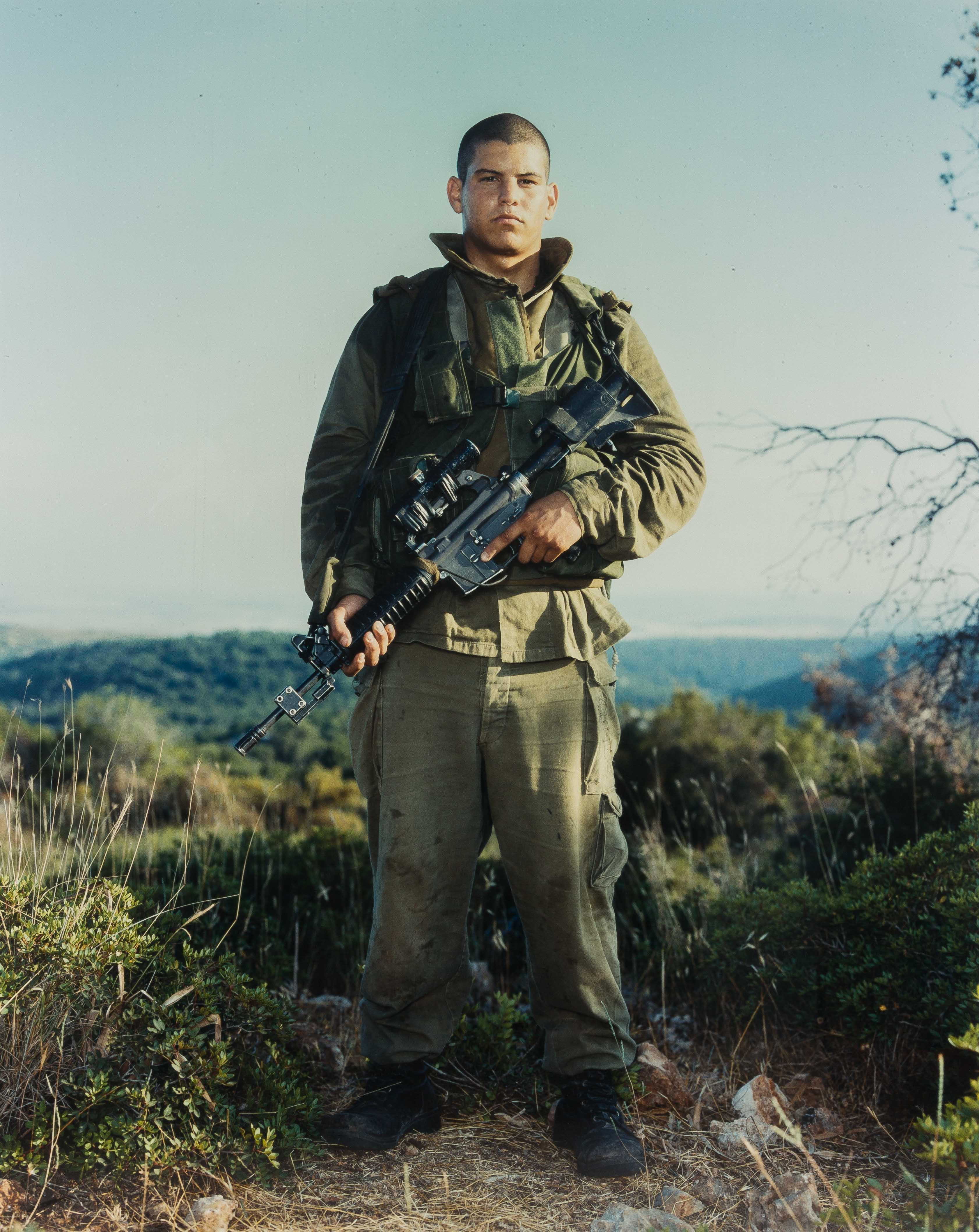 RINEKE DIJKSTRA (1959)Itamar,Golani Brigade,Orev Unit,Elyakim,Israel mei 29/1999