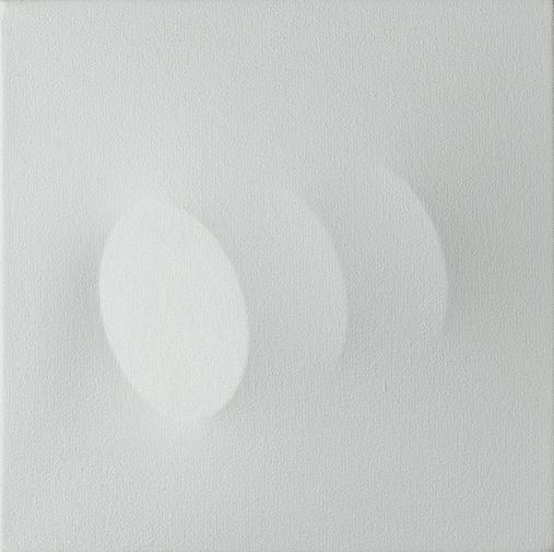 Turi Simeti (1922)tre ovali bianchi (2008)