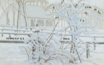 WILLIAM DEGOUVE DE NUNCQUES (1867-1935)Snow landscape
