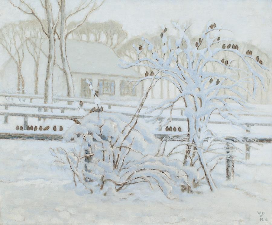WILLIAM DEGOUVE DE NUNCQUES (1867-1935)Snow landscape