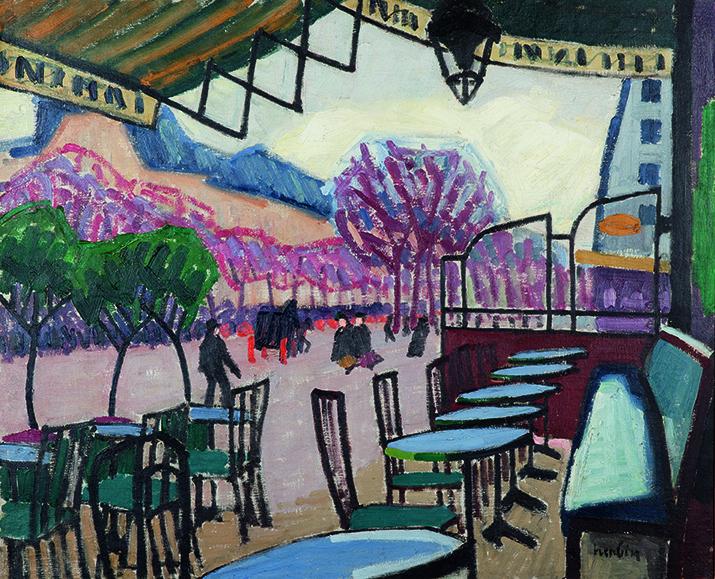 Auguste Herbin (1882-1960) La terrasse de café, Bastia (1907)