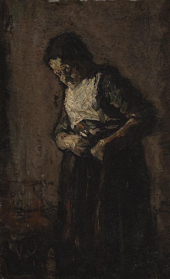 SUZE ROBERTSON (1855-1922)VROUW IN INTERIEUR