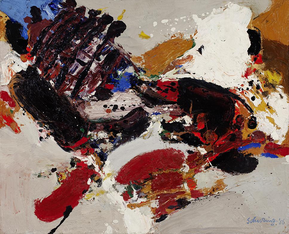 HENK SCHURING (1928-1984) COMPOSITION (1956)