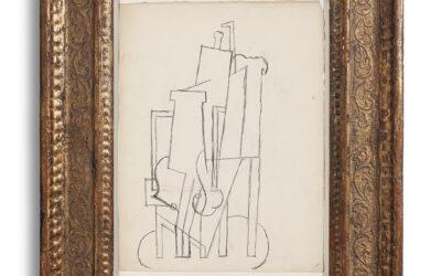 PABLO PICASSO (1881-1973) PERSONNAGE ASSIS DANS UN FAUTEUIL (1915)
